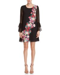 Yumi' - Watercolor Rose Placement Tunic Dress - Lyst