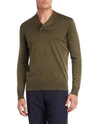 Forte - Garment Dyed V-neck Sweater - Lyst