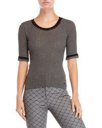 Sonia by Sonia Rykiel - Striped Elbow Sleeve Knit Top - Lyst