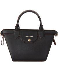 Longchamp - Black Le Pliage Héritage Small Satchel - Lyst