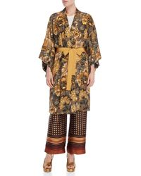 Ottod'Ame - Floral Belted Robe Jacket - Lyst