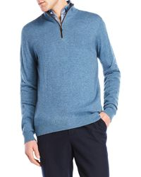 Forte   Mock Neck Quarter-zip Cashmere Sweater   Lyst