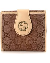 Gucci - Gg Canvas Compact Wallet - Vintage - Lyst