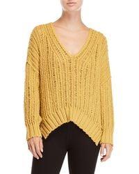 Free People - Infinite V-neck Hi-low Sweater - Lyst
