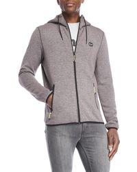 Bench - Grey Full-zip Hoodie - Lyst
