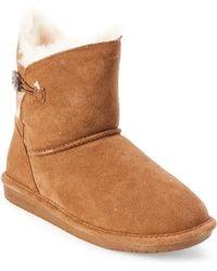 860f756c5ec Lyst - Koolaburra Chestnut Real Fur Shearling Savannity Ii Boots in ...