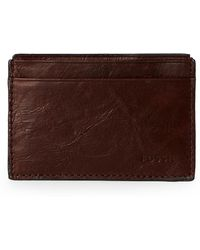 Fossil - Brown Neel Leather Card Case - Lyst