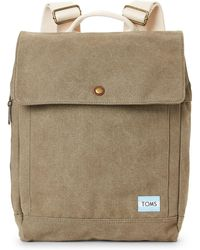 TOMS - Olive Canvas Backpack - Lyst