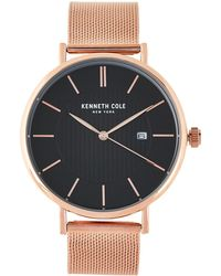Kenneth Cole - Kc50037009 Rose Gold-tone Watch - Lyst