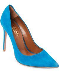 Aquazzura - Ocean Blue Simply Irresistible Suede Pumps - Lyst