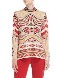 Leonard - Printed High Neck Wool Sweater - Lyst