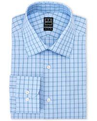 Ike Behar - Blue Checkered Regular Fit Dress Shirt - Lyst