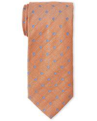 Guy Laroche - Orange & Blue Polka Dot Tie - Lyst