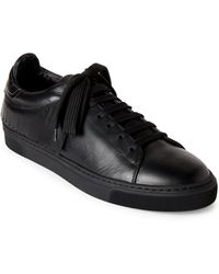 Louis Leeman - Kiltie Fringe Leather Low-top Sneakers - Lyst