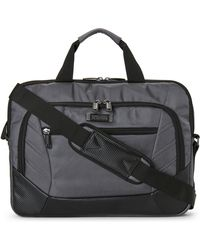Kenneth Cole Reaction | Grey Top Zip Computer Case | Lyst