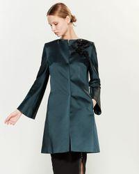 Les Copains Dark Green Embellished Coat