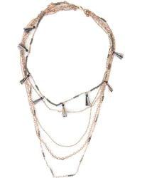 Rebecca Minkoff - Rose Gold-tone Layered Tassel Necklace - Lyst