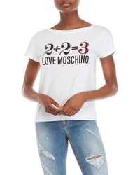 Love Moschino - Sequin Graphic Tee - Lyst