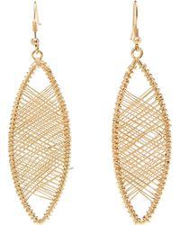 Kenneth Jay Lane - Gold-tone Wire-wrapped Oval Drop Earrings - Lyst