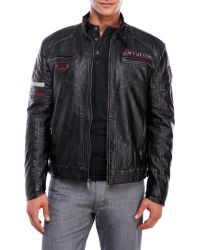 Affliction - Faux-Leather Recklessness Jacket - Lyst