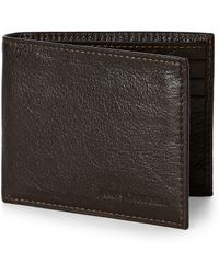 James Campbell - Brown Bifold Wallet Brown Italian Leather Bifold Wallet - Lyst