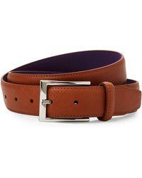 Ike By Ike Behar - Tan Saffiano Leather Belt - Lyst