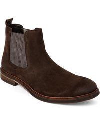 Steve Madden - Dark Brown Teller Suede Chelsea Boots - Lyst