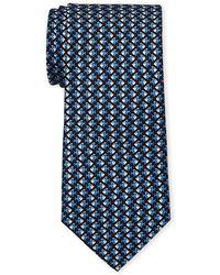 Battistoni - Navy Swimming Fish Silk Tie - Lyst