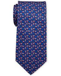 Pierre Cardin - Dolphin Print Silk Tie - Lyst