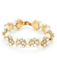 Marchesa - Gold-tone Bijou Blossom Flexible Bracelet - Lyst