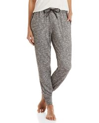 Midnight By Carole Hochman - Marled Drawstring Pajama Pants - Lyst