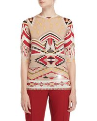 Leonard - Printed Half Sleeve Sweater - Lyst
