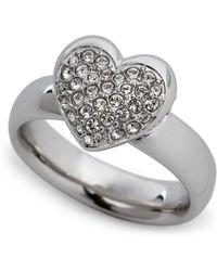 Swarovski - Silver-Tone Even Heart Ring - Lyst