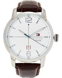 Tommy Hilfiger - 1791217 Silver-tone & Brown George Watch - Lyst