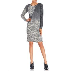 D'deMOO - Long Sleeve Printed Sweater Dress - Lyst