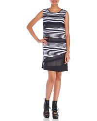D'deMOO - Stripe Shift Dress - Lyst