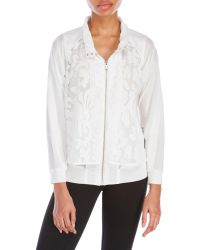 D'deMOO - Embroidered Mesh Jacket - Lyst