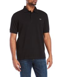 Fred Perry - Logo Embroidered Polo - Lyst