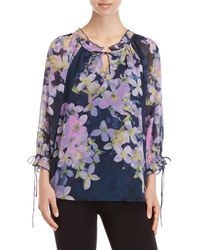 Sioni - Printed Ruffled Top - Lyst