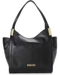 Kenneth Cole Reaction - Black Metal Hardware Hobo - Lyst