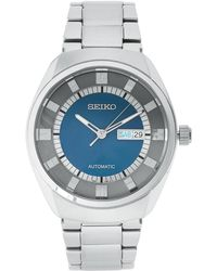 Seiko - Snkn73 Silver-Tone & Blue Watch - Lyst