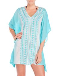 Spiaggia Dolce - Embroidered Aztec Tunic Cover-Up - Lyst