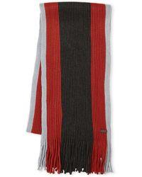 MICHAEL Michael Kors - Chunky Knit Stripe Scarf - Lyst