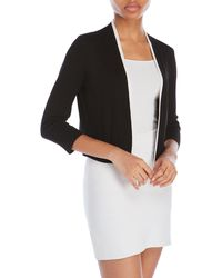 Cable & Gauge - Knit Open Shrug - Lyst