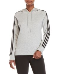adidas - Essential Three-stripe Hoodie - Lyst