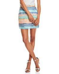 Waverly Grey - Stripe Mini Skirt - Lyst