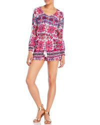 Patrons Of Peace   Printed Ruffle Romper   Lyst