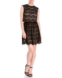 Marc New York - Two-Piece Lace Crop Top & Skirt Set - Lyst