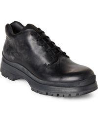 Prada - Black Chunky Leather Oxfords - Lyst