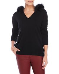 Magaschoni - Cashmere Hoodie With Real Fur Trim - Lyst